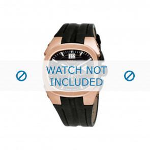 Breil bracelet de montre BW0413 / F26005558 Cuir Noir + coutures noires