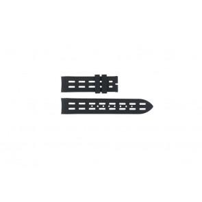 Breil bracelet de montre BW0400 / F260053257 / F260053260 Caoutchouc Noir 22mm