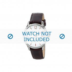 Breil bracelet de montre TW1556 Cuir Brun 19mm + coutures brunes