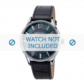 Breil bracelet de montre TW1564 Cuir Noir 18mm + coutures noires