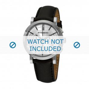 Burberry bracelet de montre BU1361 Cuir Noir 20mm + coutures noires