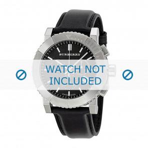 Burberry bracelet de montre BU2306 Cuir Noir 22mm + coutures noires