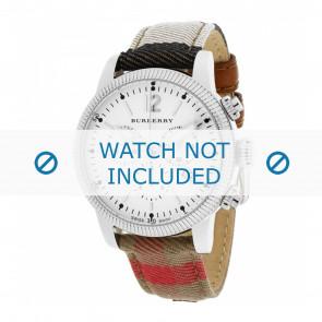 Burberry bracelet de montre BU7820 Cuir Blanc crème / Beige + coutures défaut