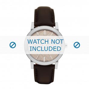 Burberry bracelet de montre BU9011  Cuir Brun + coutures brunes