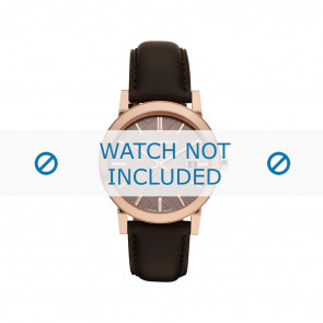 Burberry bracelet de montre BU-9013 Cuir Brun 20mm