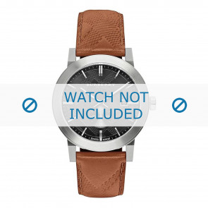 Burberry bracelet de montre BU9905 Cuir Brun + coutures brunes