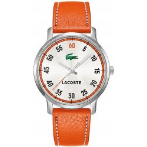 Bracelet de montre Lacoste 2000568 / LC-41-3-14-2199 Cuir Orange 20mm