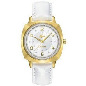 Bracelet de montre Lacoste 2000604 / LC-47-3-34-2234 Cuir Blanc 18mm
