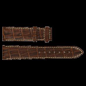 Certina bracelet de montre C610007728 / C61040201 / C536.7029.42.69 Cuir Brun 20mm + coutures blanches