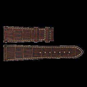 Certina bracelet de montre C610011091 Cuir Brun 23mm + coutures blanches
