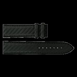 Certina bracelet de montre C610016427 Cuir Noir 21mm + coutures noires