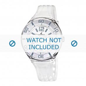 Calypso bracelet de montre K5588/1  Plastique Blanc