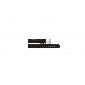 Camel bracelet de montre 4000-4009 Cuir Brun foncé 14mm + coutures brunes