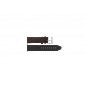 Camel bracelet de montre Active Cuir Brun foncé 26mm + coutures blanches