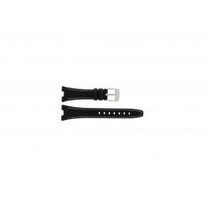 Camel bracelet de montre 6000-6007 Cuir Noir 22mm + coutures blanches