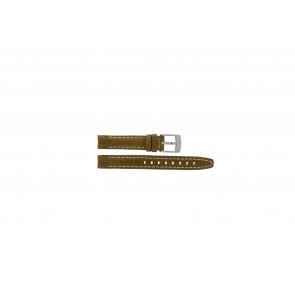 Camel bracelet de montre 5100-5109 Cuir Brun clair 14mm + coutures blanches