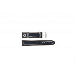 Camel bracelet de montre 3120-3129 / 3520-3529 Cuir Brun 22mm + coutures blanches