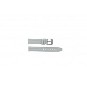 Camel bracelet de montre Active Cuir Blanc 16mm + coutures blanches