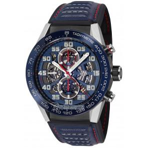 Bracelet de montre Tag Heuer CAR2A1N / FT6100 / BT6133 Cuir Bleu 22mm