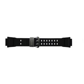 Casio bracelet de montre GW-9400-1 / 10455201 Silicone Noir 19mm