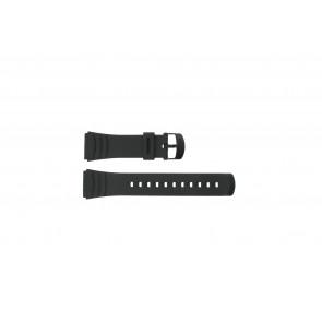 Casio bracelet de montre DBC-32C-1BW En caoutchouc Noir 22mm