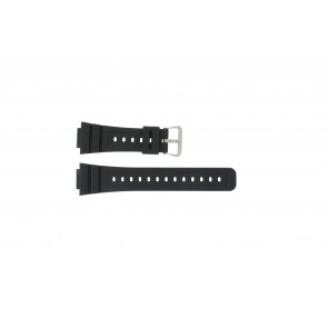 Casio bracelet de montre DW-5000SL-1 / 10512401 / 5600E / 5600E-1 32 / G-5600 / G-5700 Silicone Noir 16mm