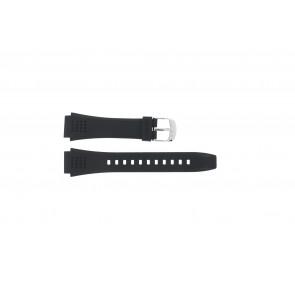 Casio bracelet de montre EFA-124-1AVW En caoutchouc Noir 20mm