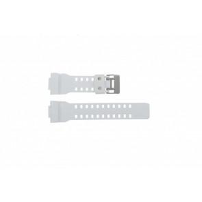 Casio bracelet de montre GA100A-7AW En caoutchouc Blanc 27mm