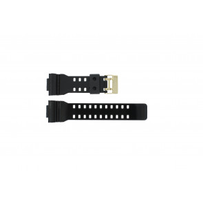 Casio bracelet de montre A-110GB-1A En caoutchouc Noir 16mm