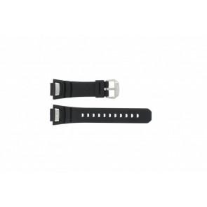 Bracelet de montre GS-1000J-1A / 10212982 / 10332054 Silicone Noir 16mm