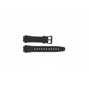 Bracelet de montre Casio AQ-160W-1BV Plastique Noir 17mm