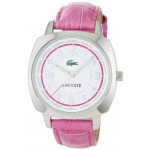Bracelet de montre Lacoste 2000599 / LC-47-3-14-2233 Cuir croco Rose 18mm