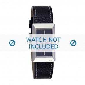 Dolce & Gabbana bracelet de montre 3719040015 Cuir Noir + coutures blanches