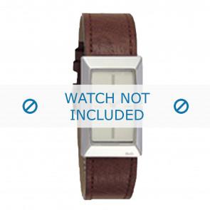 Dolce & Gabbana bracelet de montre 3719040028 Cuir Brun + coutures brunes