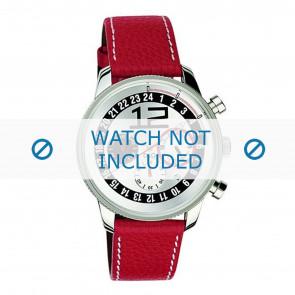 Dolce & Gabbana bracelet de montre 3719740276 Cuir Rouge + coutures blanches