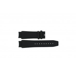 Dolce & Gabbana bracelet de montre 3719770097 Cuir Noir 20mm + coutures noires