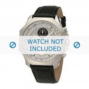 Dolce & Gabbana bracelet de montre DW0102 Cuir Noir + coutures noires