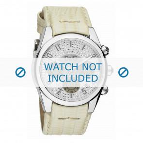 Dolce & Gabbana bracelet de montre DW0258 Cuir Blanc crème / Beige