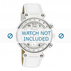 Dolce & Gabbana bracelet de montre DW0305 Cuir Blanc + coutures blanches