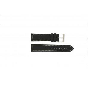 Davis bracelet de montre BB1020 Cuir Noir 22mm