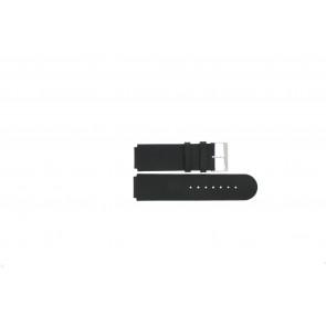 Jacques Lemans bracelet de montre DC-210 / 1-1867A Cuir Noir 20mm + coutures noires