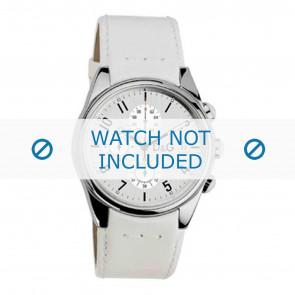 Dolce & Gabbana bracelet de montre 3719770084 Cuir Blanc 20mm + coutures blanches