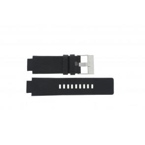 Diesel bracelet de montre DZ-1089 / DZ-1091 Cuir Noir 18mm