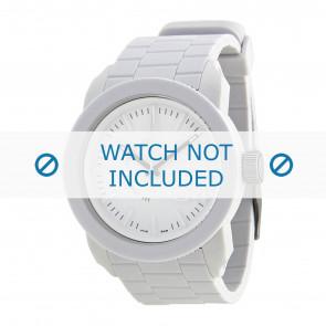 Diesel bracelet de montre DZ1436 / DZ1439 / DZ1437 / DZ1438 Silicone Blanc 24mm