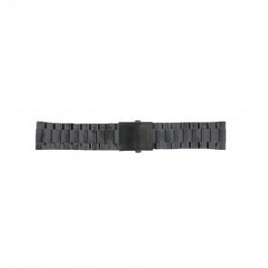 Diesel bracelet de montre DZ4318 / DZ4283 / DZ4316 / DZ4355 / DZ4309 Métal Noir 26mm