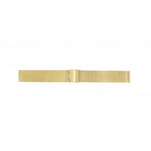 Bracelet de montre Universel MESH-DOUBLE-18MM Acier Plaqué or 18mm