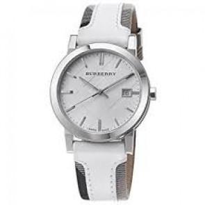 Bracelet de montre Burberry BU9019 Cuir Blanc