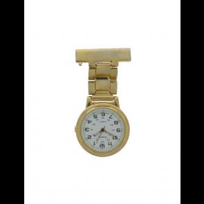 E968 montre infirmière unisexe Métal Or (dorée)