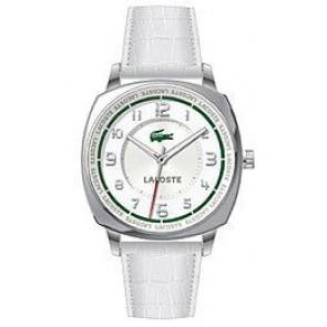 Bracelet de montre Lacoste 2000598 / LC-47-3-14-2233 Cuir croco Blanc 18mm