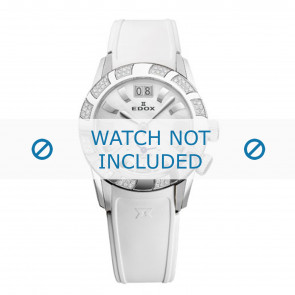 Edox bracelet de montre 62005 Silicone Blanc